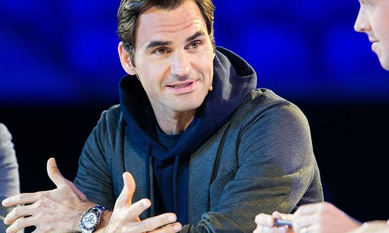Roger Federer of Switzerland attends the draw for the Australian Open tennis tournament in Melbourne on January 10, 2019. ─ AFP