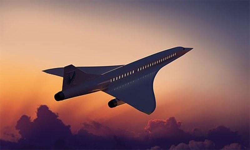 یہ طیارہ آواز کی رفتار سے دوگنا تیزی سے سفر کرنے کی صلاحیت رکھتا ہے— فوٹو بشکریہ بوم
