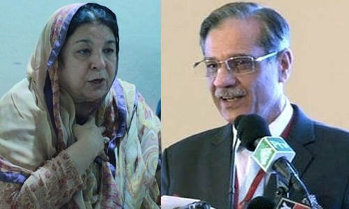 Justice Nisar (R) had voiced his disappointment with Dr Yasmin Rashid's (L) performance in recent weeks but appreciated her conduct today. — File