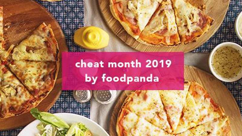 Bargains with 'Cheat month 2019' include California Pizza, KFC, Burger Lab, Dunkin Donuts,  and more on foodpanda.