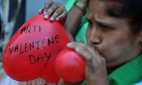 """University of Agriculture Faisalabad vice chancellor says Muslims should convert """"threat"""" of Valentine's Day into an opportunity. ─ AFP/File"""