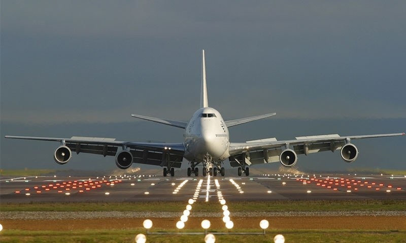 In this file photo, a PIA aircraft is seen on the runway at Manchester Airport.