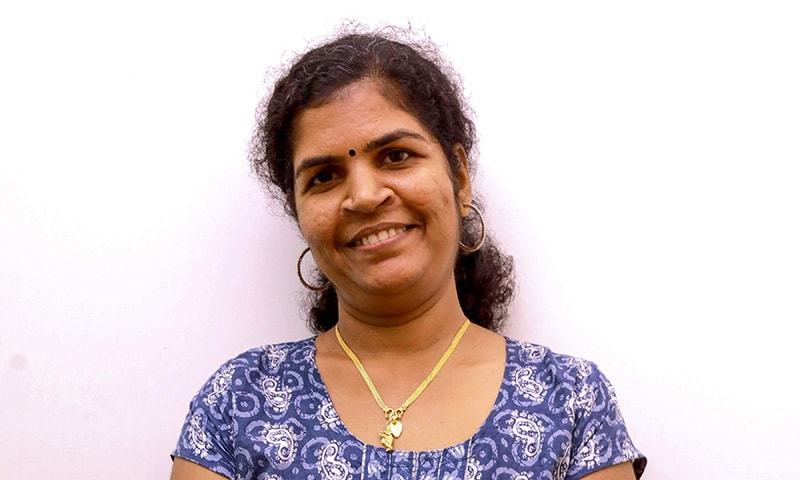 In this file photo taken on January 11, 2019, Kanakadurga, one of the two women who entered the Sabarimala Ayyapa temple, poses for a photograph during an interview in the southern state of Kerala. ─ AFP
