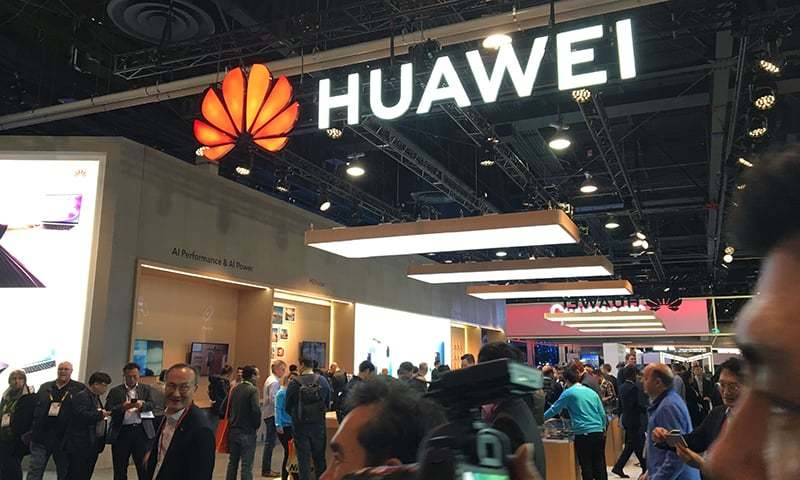 In this file photo, the Huawei booth is seen during CES 2019 consumer electronics show at the Las Vegas Convention Center in Las Vegas, Nevada. — AFP