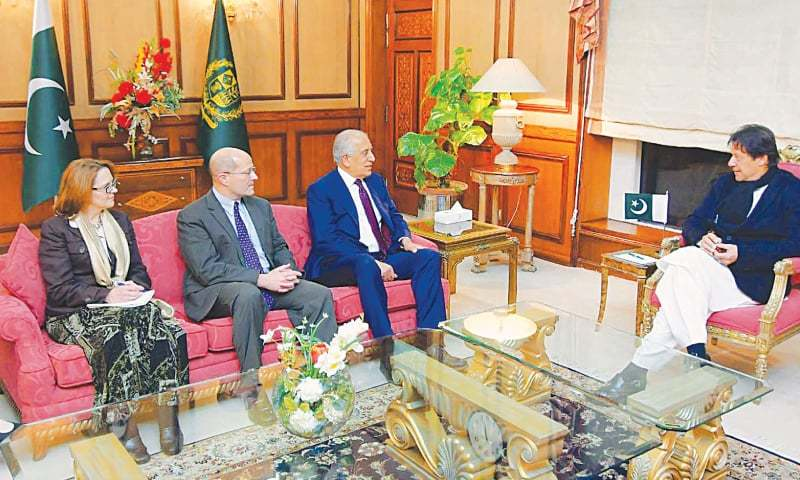 ISLAMABAD: Zalmay Khalilzad, US Special Representative for Afghanistan, calls on Prime Minister Imran Khan at PM Office on Friday.—INP
