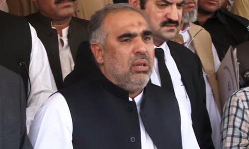 Asad Qaiser hints at bringing a constitutional amendment to improve 18th Amendment. ─ File photo