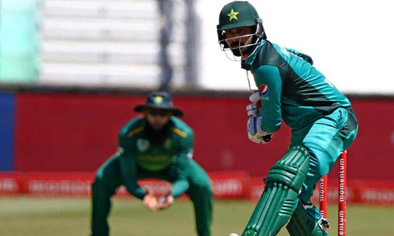 Mohammed Hafeez of Pakistan bats during the 2nd ODI match between South Africa and Pakistan held at the Kingsmead Cricket Stadium in Durban on January 22, 2019. — AFP