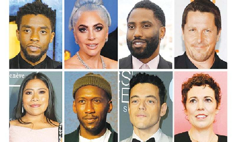 BEST picture Oscar nominees for the annual Academy Awards (top left to right) Chadwick Boseman representing Black Panther, Lady Gaga A Star is Born, John David Washington BlacKkKlansman, Christian Bale Vice. (Bottom left to right) Yalitza Aparicio Roma, Mahershala Ali Green Book, Rami Malek Bohemian Rhapsody and Olivia Colman The Favourite are seen in a combination of file photos.—Reuters