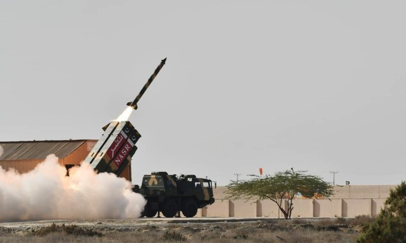 Nasr is a high precision, shoot and scoot Weapon System with the ability of in-flight maneuverability. —ISPR