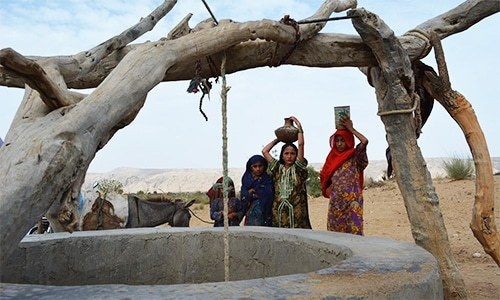 Abrupt decline in rainfall in most of the upland areas of the province has caused a complete drying up of the surface drinking water resources and has decreased water output from springs and tubewells. — File photo