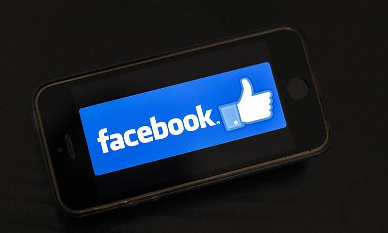 In this file photo taken on January 15, 2019, the logo of social network Facebook is displayed on a smartphone in Nantes, France. — AFP