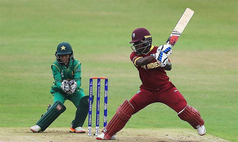 This is the Windies women's first tour to Karachi in 15 years, and the Pakistani team's 100th T20I. ─ Photo courtesy ICC Twitter
