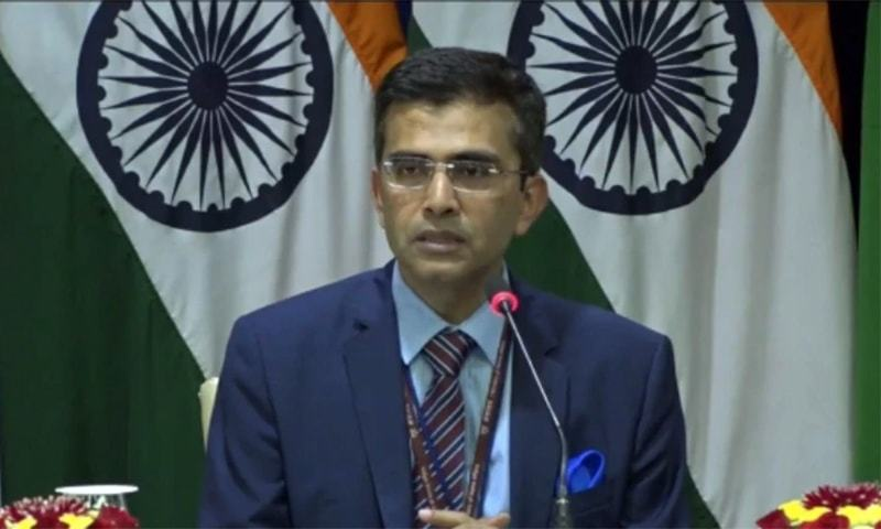 Spokesperson of India's Ministry of External Affairs Raveesh Kumar speaks to the media during a weekly briefing in New Delhi. — Photo courtesy India Today