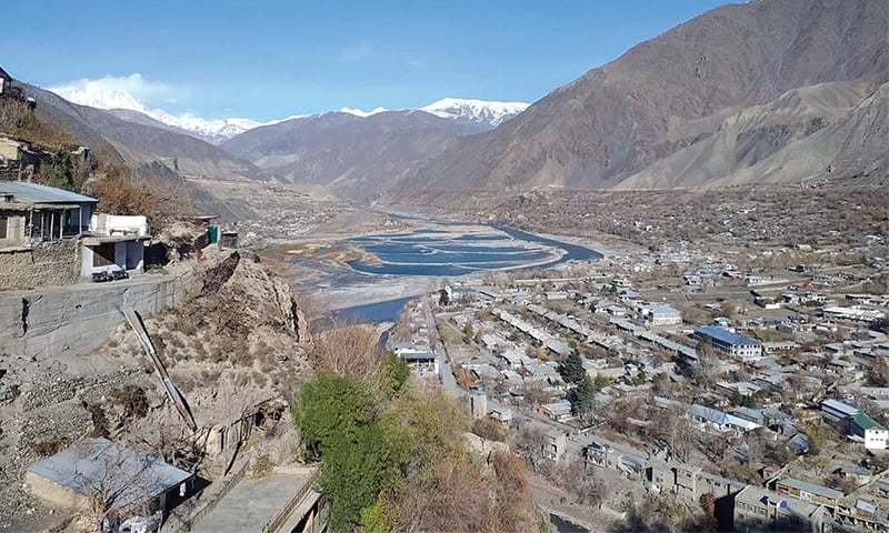 A bird?s eye view of picturesque Chitral valley. ? Dawn