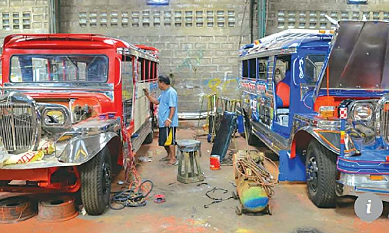 Jeepneys have for decades provided work for many artists