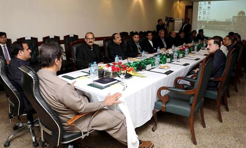 Prime Minister Imran Khan chaired a Punjab government meeting in Lahore. — PID
