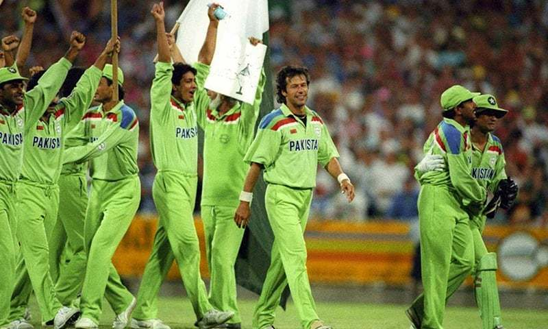 Pakistan's 1992 World Cup winning team that was led by now premier, Imran Khan. — File photo
