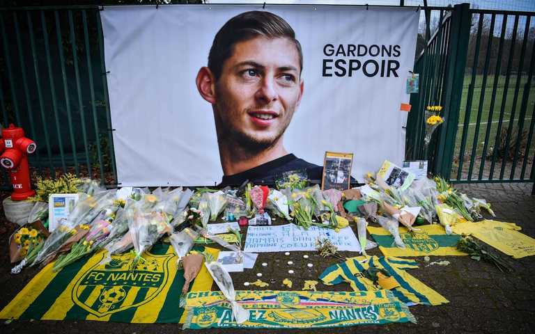 Tributes were paid to Sala outside the training ground in France's Nantes. — AFP
