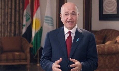 """We find these comments strange,"" said Barham Salih, speaking at a forum in Baghdad. — File"