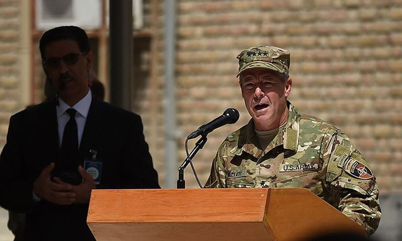 "Gen Scott Miller says peace talks with Afghan Taliban ""are positive"". — File photo"