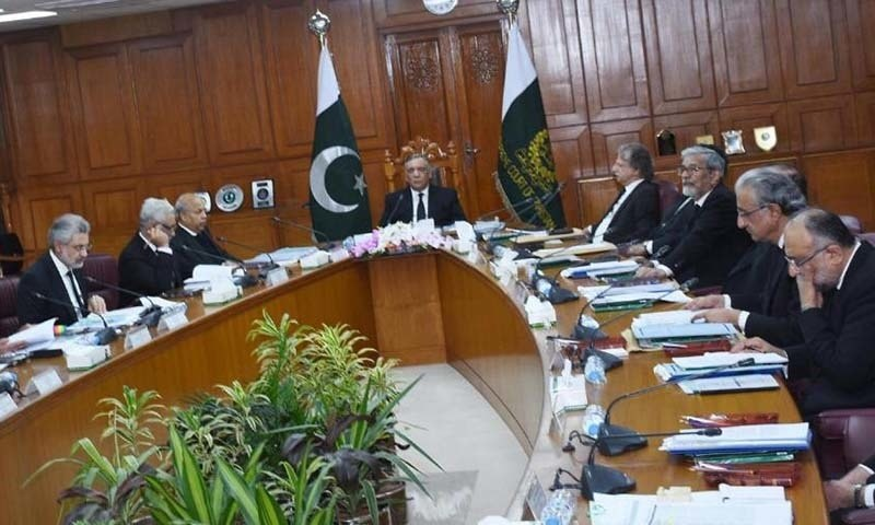 Chief Justice of Pakistan Asif Saeed Khosa presides a full court meeting in Islamabad. — Photo by author