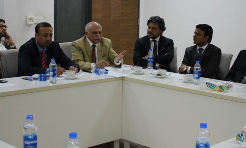 The programme was organised by the Sustainable Development Policy Institute (SDPI) and the Institute of Business Administration (IBA), Karachi, to discuss 'Drivers of future economic growth and job creation in Sindh' at the IBA. ─ Photo courtesy IBA Karachi Twitter
