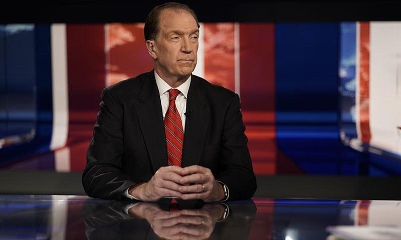 "David Malpass, undersecretary for international affairs at the Treasury Department, listens to Trish Regan during ""Trish Regan Primetime"" on Fox Business in Washington on Wednesday. — AP"