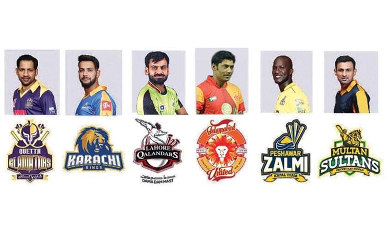 Team captains for PSL-2019