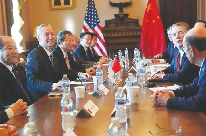 US team in Beijing for trade talks