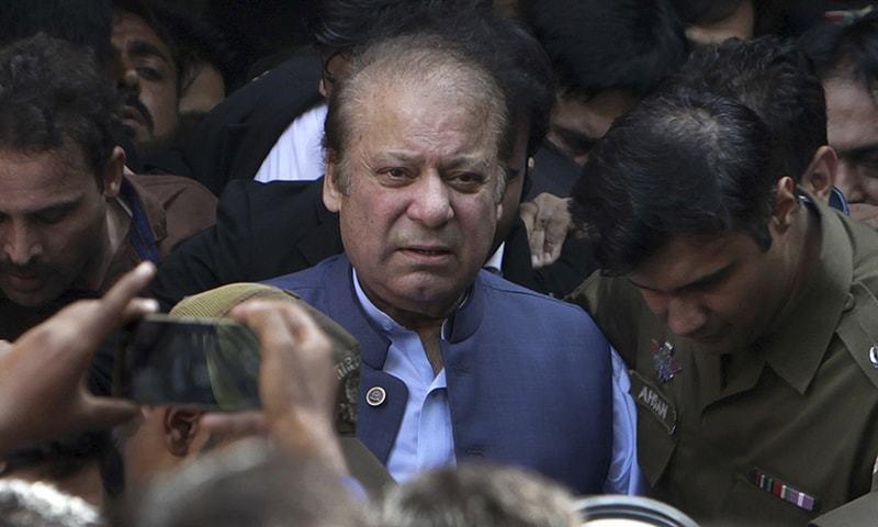 Former prime minister Nawaz Sharif.— AP/File