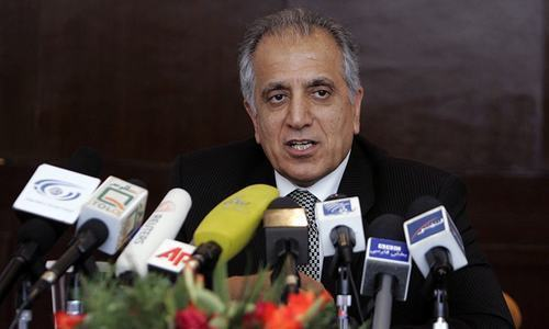 Ambassador Zalmay Khalilzad and his interagency delegation will also consult officials in Belgium, Germany and Turkey before arriving in the region for further talks. — File photo