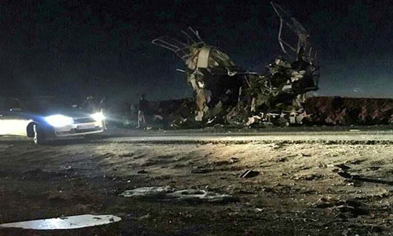 Iranian Revolutionary Guard Bus Bombed; Dozens Dead