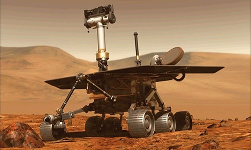 This file computer generated image obtained on August 31, 2018 shows the Opportunity rover of NASA part of the Mars planet exploration programme. — AFP