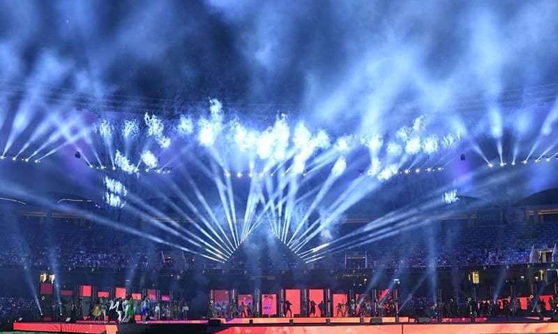 PSL opening ceremony takes place at the Dubai International Stadium. — PSL