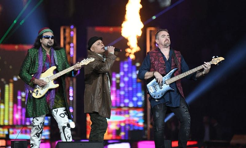 Junoon perform at the PSL opening ceremony. — PSL