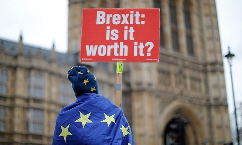 """The British government on Friday dismissed as a """"hiccup"""" its latest parliamentary defeat over Brexit, saying it would press on with trying to renegotiate its EU divorce deal as exit day looms in just six weeks. — AFP/File"""