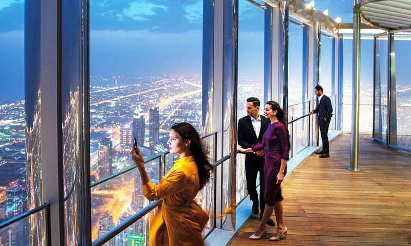 بلند ترین ہوٹل کو 152 ویں سے 154 ویں منزل پر کھولا گیا ہے—فوٹو: گلف نیوز
