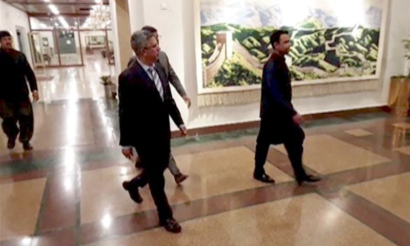 A file photo of Indian Acting Deputy High Commissioner Gaurav Ahluwalia leaving the Foreign Office in Islamabad.