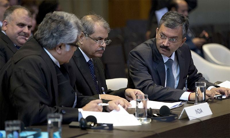 "India's counsel Harish Salve raises objections over words used by Pakistani delegation, says Pakistan's queries are ""inappropriate and irrelevant"". — File photo"