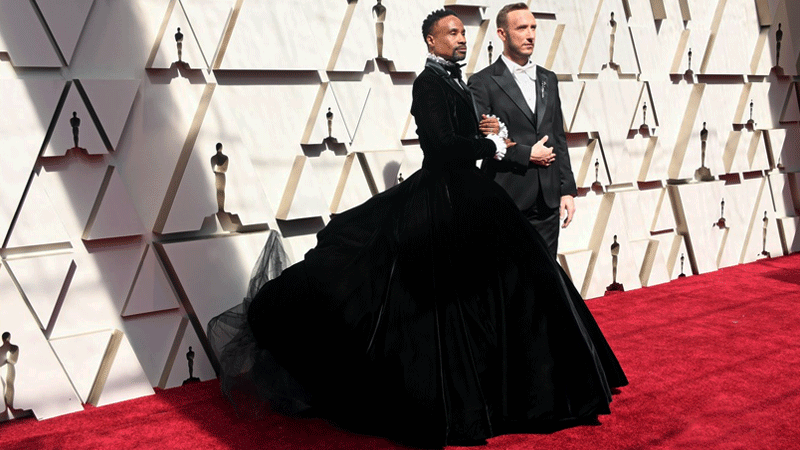 """""""My goal is to be a walking piece of political art every time I show up,"""" said Billy Porter about his outfit."""