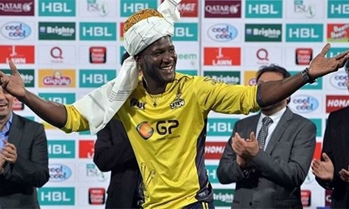 """The love they have given me has always been overwhelming,"" says Peshawar Zalmi skipper Darren Sammy. — Twitter"
