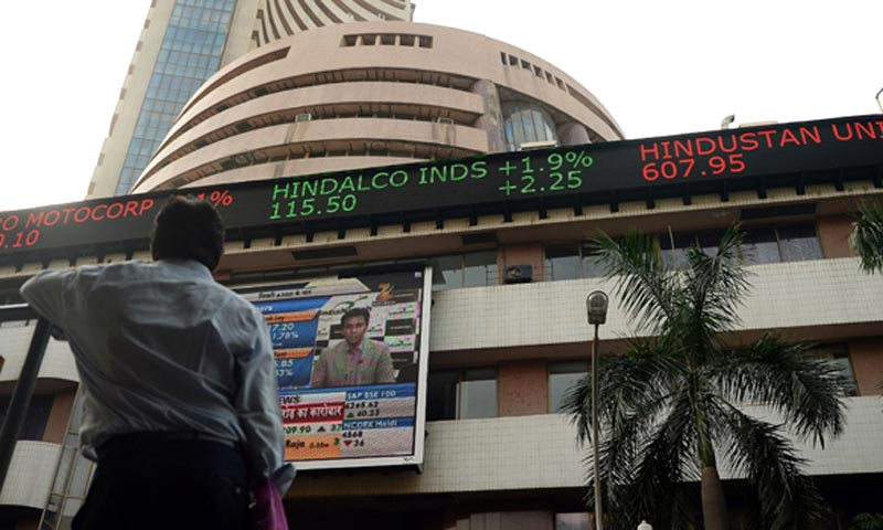 Most of the Bombay Stock Exchange sectoral indices trade in red, led by banking, power, PSU, realty and IT stocks. — AFP/File