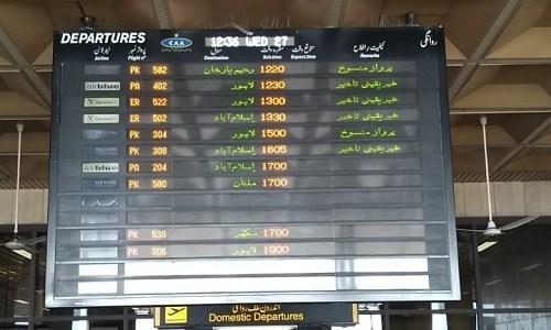 Pakistani airspace is closed, according to Civil Aviation Authority. — Photo by Qazi Hassan