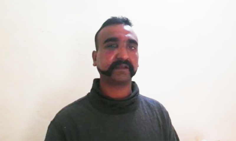 Indian pilot, Wing Commander Abhi Nandan, is in the custody of Pakistan Army after being captured on Tuesday.— ISPR