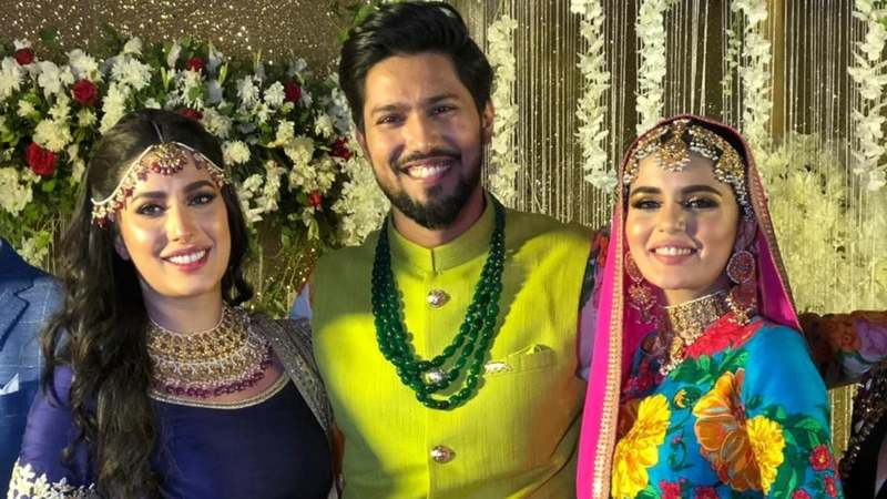 The actor tied the knot with model Faiza Ashfaq in Karachi yesterday