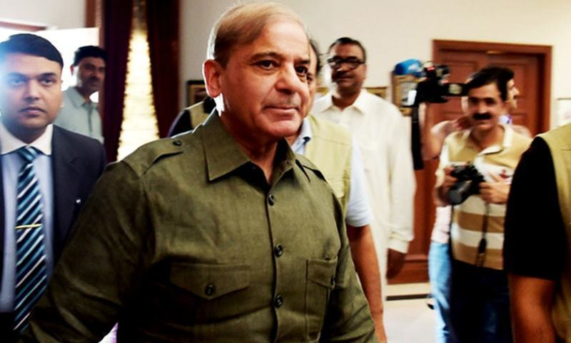 PML-N President Shahbaz Sharif, chief suspect in Ashiyana Housing scam and Ramzan Sugar Mills case, arrived late to the court. — AFP/File