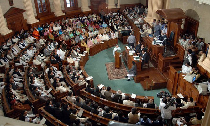 The image shows a view of the Punjab Assembly. — AFP/File