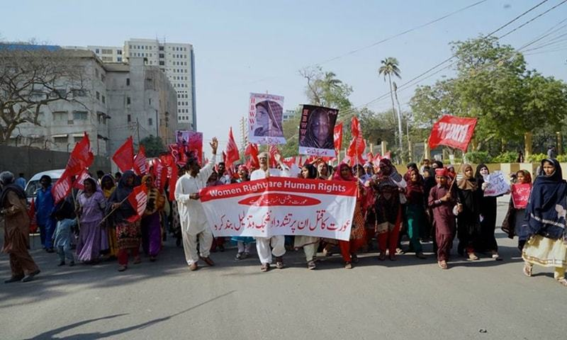 In Lahore, the marchers will gather at the press club and walk to Alhamra on The Mall.— Photo courtesy of images