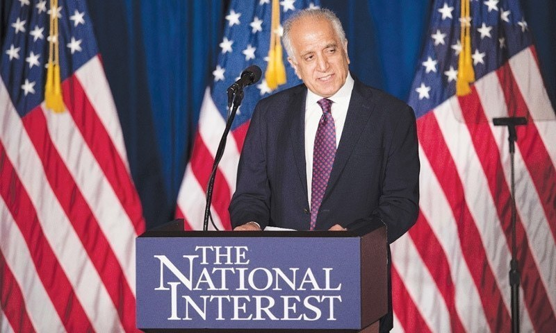 """US State Department's spokesperson says US envoy Zalmay Khalilzad was engaging with Taliban """"on a daily basis right now"""". — AP/File"""