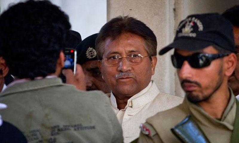 Former president Pervez Musharraf has been indicted in a high treason case for suspending the Constitution on Nov 3, 2007. — Dawn/File